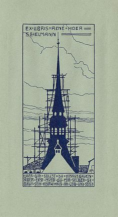 [Bookplate of Rene Hoer Schelmann] by Pratt Libraries, via Flickr