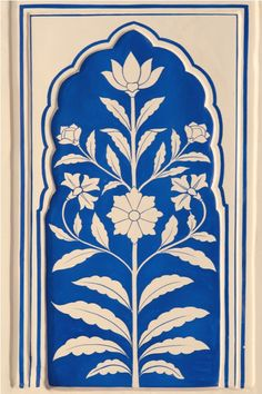 Royal Romance With Blue Pottery Pichwai Paintings, Indian Art Paintings, Art Nouveau, Madhubani Art, Indian Folk Art, Pottery Designs, Motif Floral, Pattern Art, India Pattern