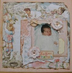 Baby page with Little Darlings Graphic 45