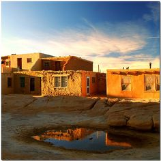 Acoma Pueblo - the oldest community in the US. The Acoma have continuously occupied the land for at least 800 years. 70 miles west of Albuquerque, NM. Tours daily.