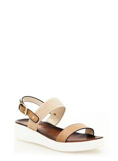 Rainbow Shops Nude Studded Slide Sandals With Ankle Strap $24.99