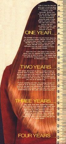 hair grows a 1/4 inch to 1/2 inch a month.