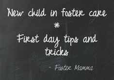 Some tips for your first day with a new child - foster care