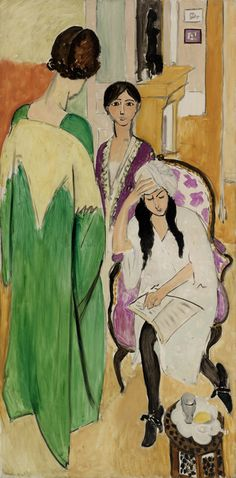 Henri Matisse (French, 1869-1954), Three Sisters with an African Sculpture (Les Trois sœurs à la sculpture africaine), 1917. Oil on canvas.