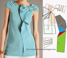 TRANSFORMATION OF BLOUSE -22 ~ Molds Fashion for Measure Page is in Portuguese, but translates without a problem.