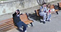 Google Street View Trike driver gets the unblurred finger.