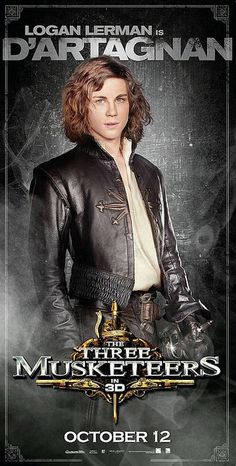 Logan Lerman, a very fitting D'Artagnan. <3