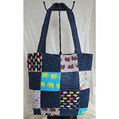 """** Handmade Jeans Bags **Items are handmade, unique, specially designed and made by me. Designs are available in one piece only. A special gifts for Yourself, Family, Friends, Love one…  New without Tags, """"Unused and Unworn Jean / Washable """" Overall in Good Condition""""Code : SWOL-B0010· Front : Patchwork design·Back : Plain·Interior : Jean Lining with 3 separate open Compartments·Closure : Fastener Tape                     ·Approx Measures (HxWxD)…"""