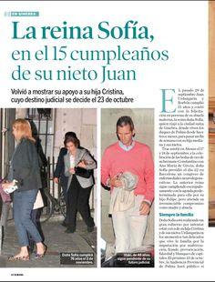 La reina Sofía celebra el cumpleaños de su nieto Juan en Ginebra - Anabolena 1/10/2014