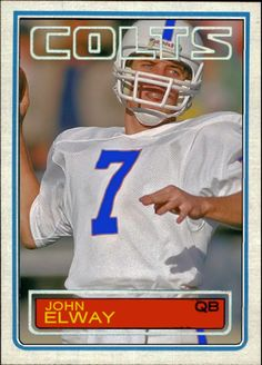 1983 Topps John Elway, Baltimore Colts, Cards That Never Were Wasn't meant to be hahahaha. Nfl Colts, Denver Broncos Football, Go Broncos, Football Memes, Football Trading Cards, Football Cards, Baseball Cards, Broncos Uniforms, Broncos Wallpaper