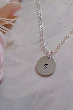 The perfect personalized gift to show you care ~ Thoughtful, personal and unique. This necklace is awesome for layering or to wear on its own. Material: 925 Sterling Silver - closes with a solid high quality Italian clasp.   Premium Medium 13 mm disc   Length - 45cm / approx 18 inches   Ready to ship #personlizedgifts #giftsformom #mothersdaygift Brass Jewelry, Crystal Jewelry, Jewellery, Gold Disc Necklace, Initial Necklace, Artisan Jewelry, Handcrafted Jewelry, Everyday Necklace, Gold Filled Jewelry