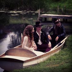 Gallows Ghost on the lake in between takes.