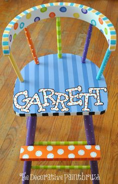 Child's High Seat, Child's Bar Stool Bar by TheDecorativeBrush get them personalized and/or customized at no extra cost.