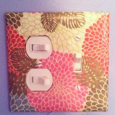 Homemade light switch cover. Can't wait to decorate more!