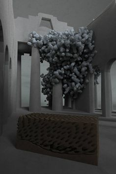 Digital based sculptures by Matthew Jarvis Wall Installation Art, Art Installations, Art And Architecture, My Favorite Color, Sculptures, Bubbles, Clouds, Black And White, Digital