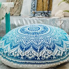 Those amazing floor cushions covers are available at our shop , they are hand printed using vegetable dyes on organic cotton canvas
