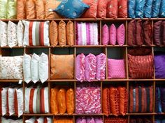 Colourful display of cushions at Heart of England Co-op's Nuneaton store