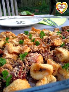 Light baked baked squid, Eat without a Belly Fish Dishes, Seafood Dishes, Seafood Recipes, Cooking Recipes, Healthy Recipes, Cena Light, Calamari Recipes, Light Recipes, I Love Food