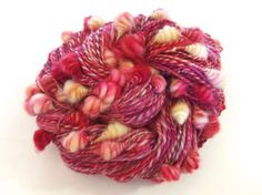 Core spun coiled beehive yarn Handspun hand dyed by Wooleys