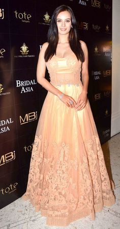 Evelyn Sharma at the media preview of a fashion show with designers Shane & Falguni Peacock.