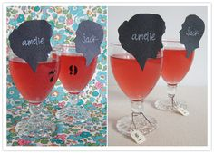 silhouette drink escort cards.
