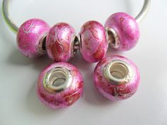 10   Large Hole Beads  to fit European Jewelry   by adawnstyle, $2.00