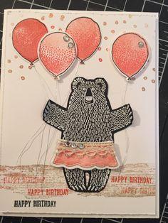 Bear Hugs stamp set, Balloon Celebration stamp set, Timeless Textures stamp set, Venetian Crochet Trim, Jewels Basic Rhinestones