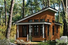 The best cabin house floor plans. Find small modern cabin style homes, simple & rustic 2 bedroom designs w/loft & more! Cabin House Plans, Tiny House Cabin, Tiny House Plans, Cabin Homes, Tiny Houses, Small Cabin Plans, Build House, Pool Houses, Small House Plans Under 1000 Sq Ft