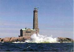 Bengtskär Lighthouse is the tallest light in Scandinavia and is located on a small rocky islet at the North Baltic Sea, entrance of the Gulf of Finland.