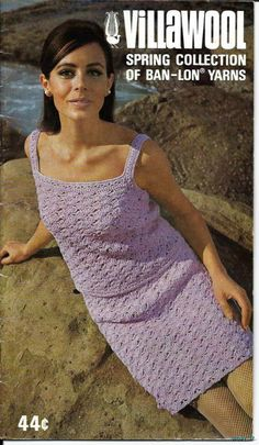 Vintage Retro Villawool Spring Collection From THE 1960s Knit AND Crochet | eBay