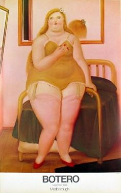 One of my favorite Botero paintings.  It is called Cama.