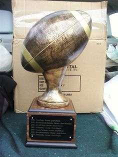 Another awesome fantasy football trophy from Frank Jones Trophies.