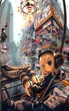 Gothic Lolita of the techomagic future. Ah, Japan. (by john hathway)