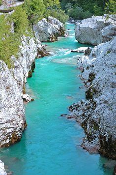 Soca Gorge, Kobarid, Slovenia Copyright: Bridget Plowright