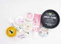 Lip Balms stash! Burt's Bees, John Masters Organics, balance Me, LUSH, The Body Shop, Figs & Rouge, Karma Naturals #beauty
