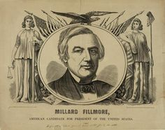 1850 Presidential Inauguration of 13th President Millard Fillmore - poster for re-election