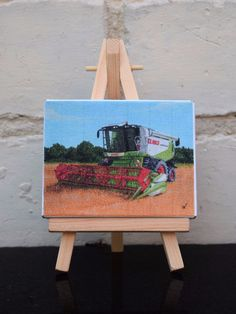 Mini Canvas Print Tractor Themed Claas Combine