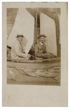 M.D.C. Crawford & Charles Prendergast (in sailboat). Morris De Camp Crawford, a textile scholar and editor at Women's Wear, was a leader in America's industrial arts movement and a close personal friend of Charles.