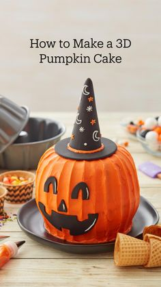 Cute Halloween Cakes, Bolo Halloween, Postres Halloween, Halloween Food For Party, Halloween Treats, Holiday Cakes, Christmas Desserts, Food Decoration, Cake Decorations