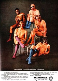 Wait, if they were advertising socks, shouldn't each guy have three on? Maybe not, if they didn't make those snazzy socks in toddler sizes. (ppc)