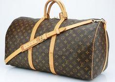 Louis Vuitton Keepall 55 Brown Monogram Travel Bag $996