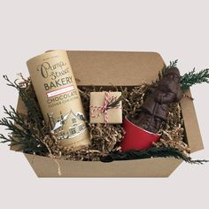 Chocolate Santa Holiday Gift Box from Loved andFound. Perfect Client or Corporate Gift