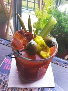 A good Bloody has 3 garnishes. A great one looks like stew.