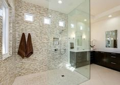 Walk in Shower Designs (Ultimate Guide) - Designing Idea Half Wall Shower, Bathroom Tub Shower, Glass Shower, Shower Doors, Large Bathrooms, Amazing Bathrooms, Small Bathroom, Master Bathroom, Bathroom Ideas