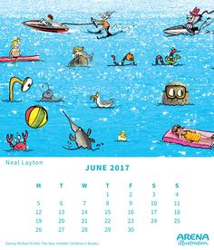 Danny McGee Drinks The Sea written by Andy Stanton, illustrated by Neal Layton Calendar 2017, F 1, 9 And 10, Illustrators, Writing, Drinks, Fictional Characters, Drinking, Illustrator
