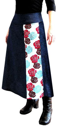 A-line skirt | Flickr - Photo Sharing! -- good idea for possibly expanding a skirt...