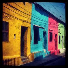 Colourful houses in Getsemaní