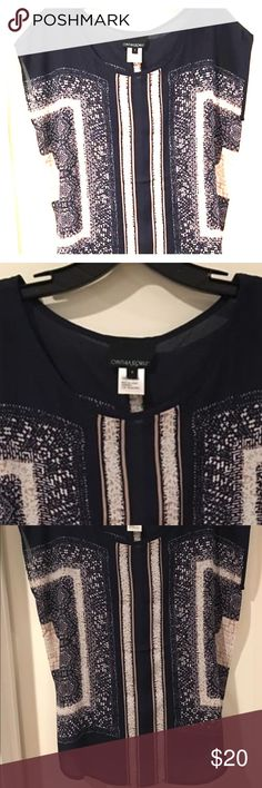 Cynthia Rowley navy and white top - Small Cynthia Rowley navy and white top - Small Cynthia Rowley Tops Blouses