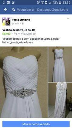 Vestido de noiva,semi novo 38.40