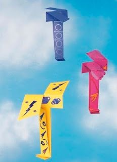 Kids will love making this origami helicopter and watching it fly!
